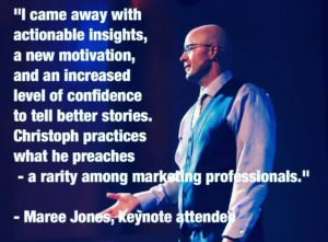 hire your next marketing keynote