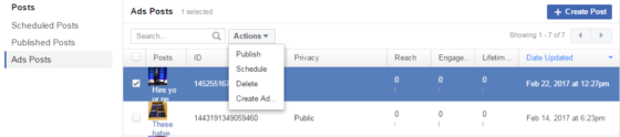 how to add call to action button on facebook post
