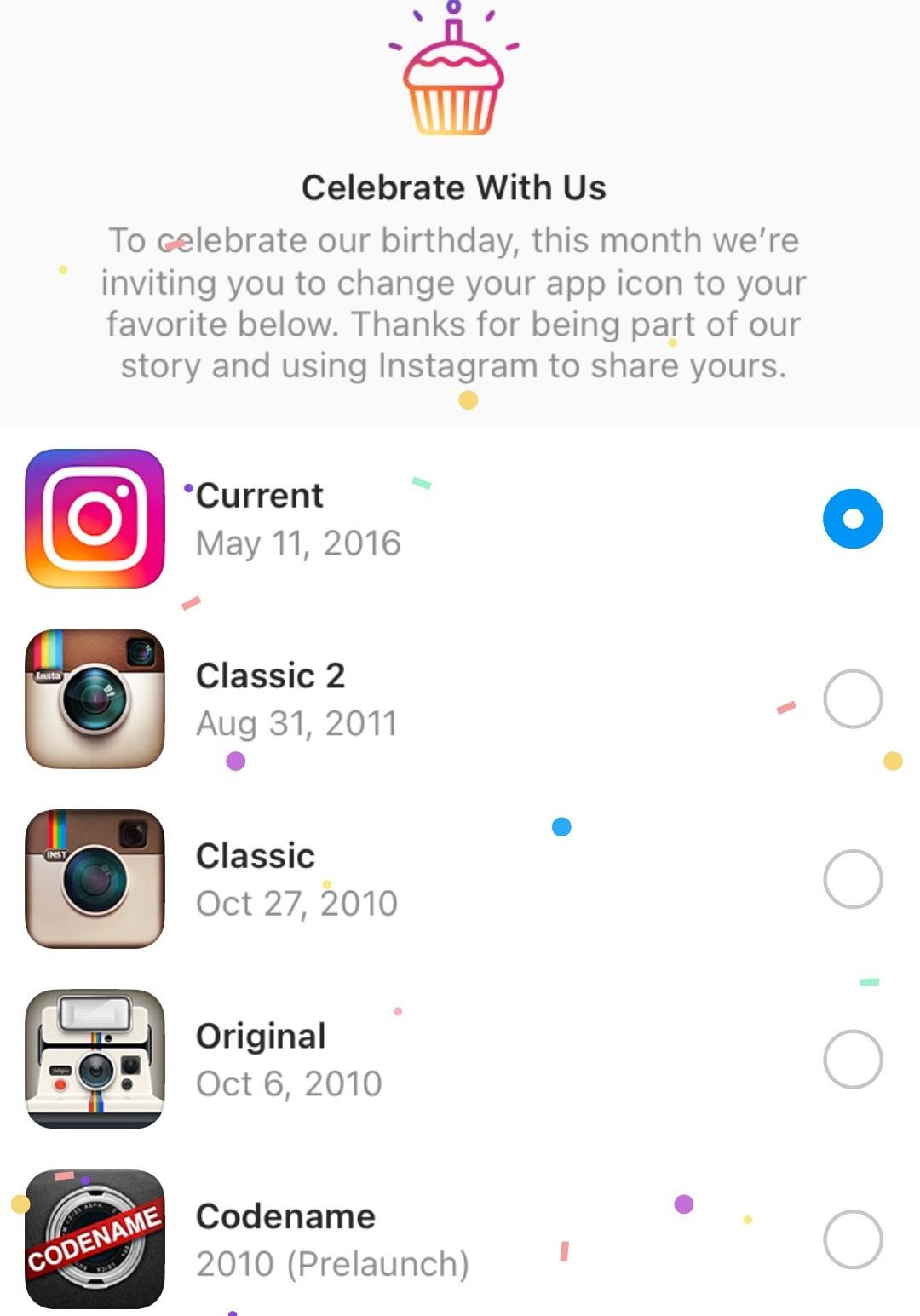 Instagram logo options