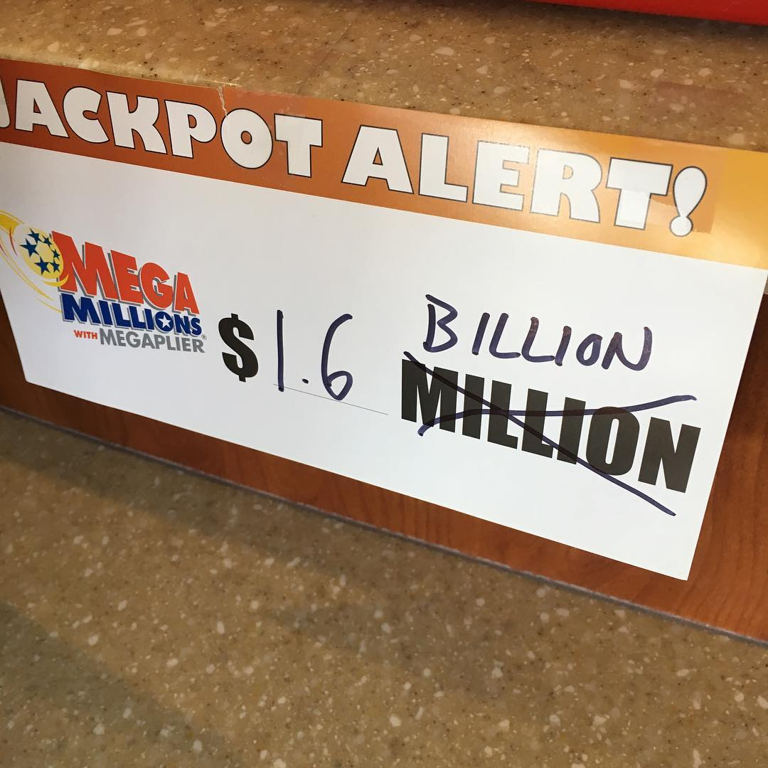 mega million jackpot sign