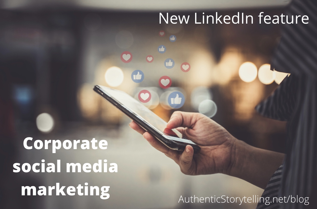 Corporate social media marketing - LinkedIn notifications
