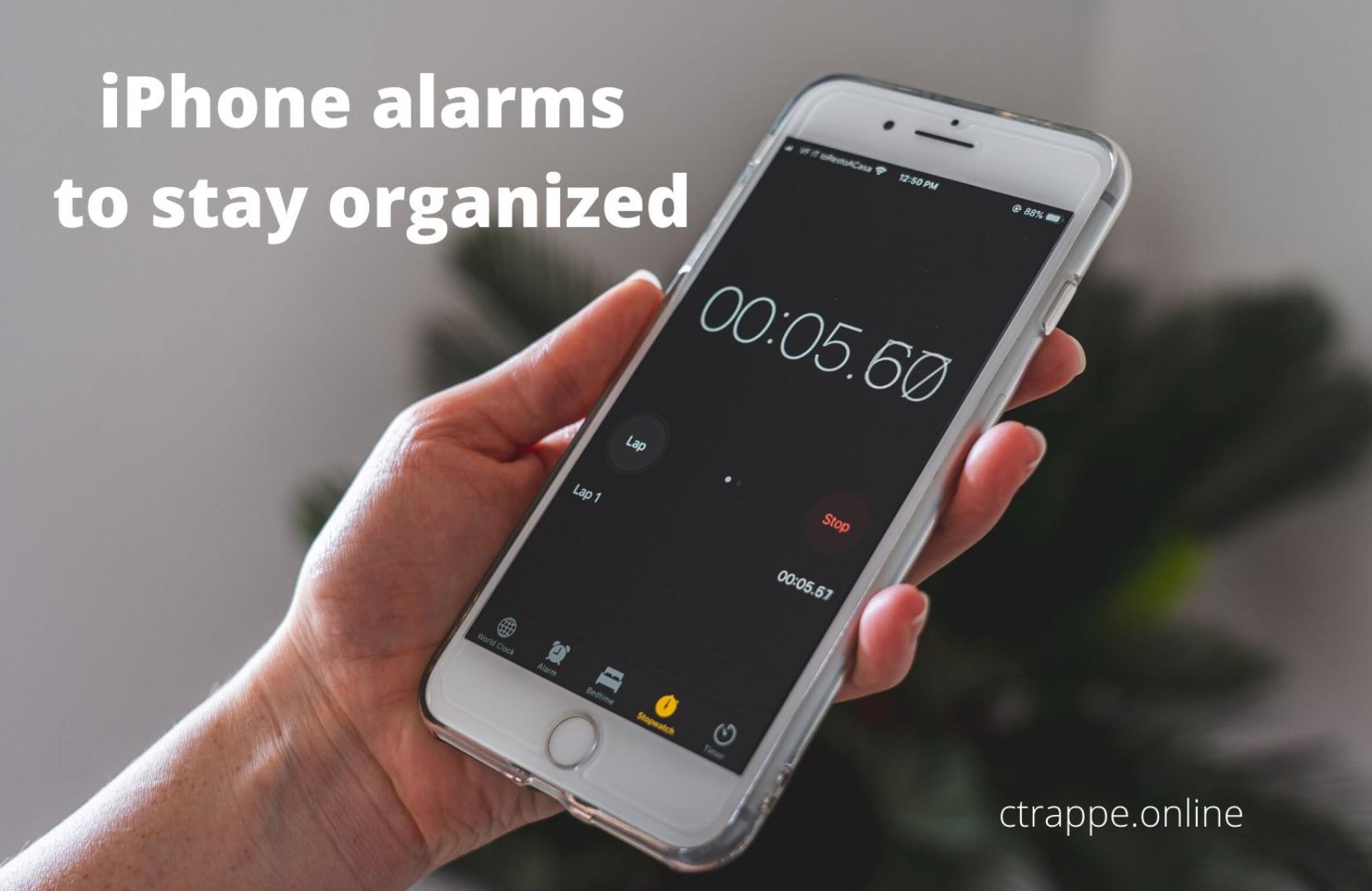 Setting an iPhone alarm