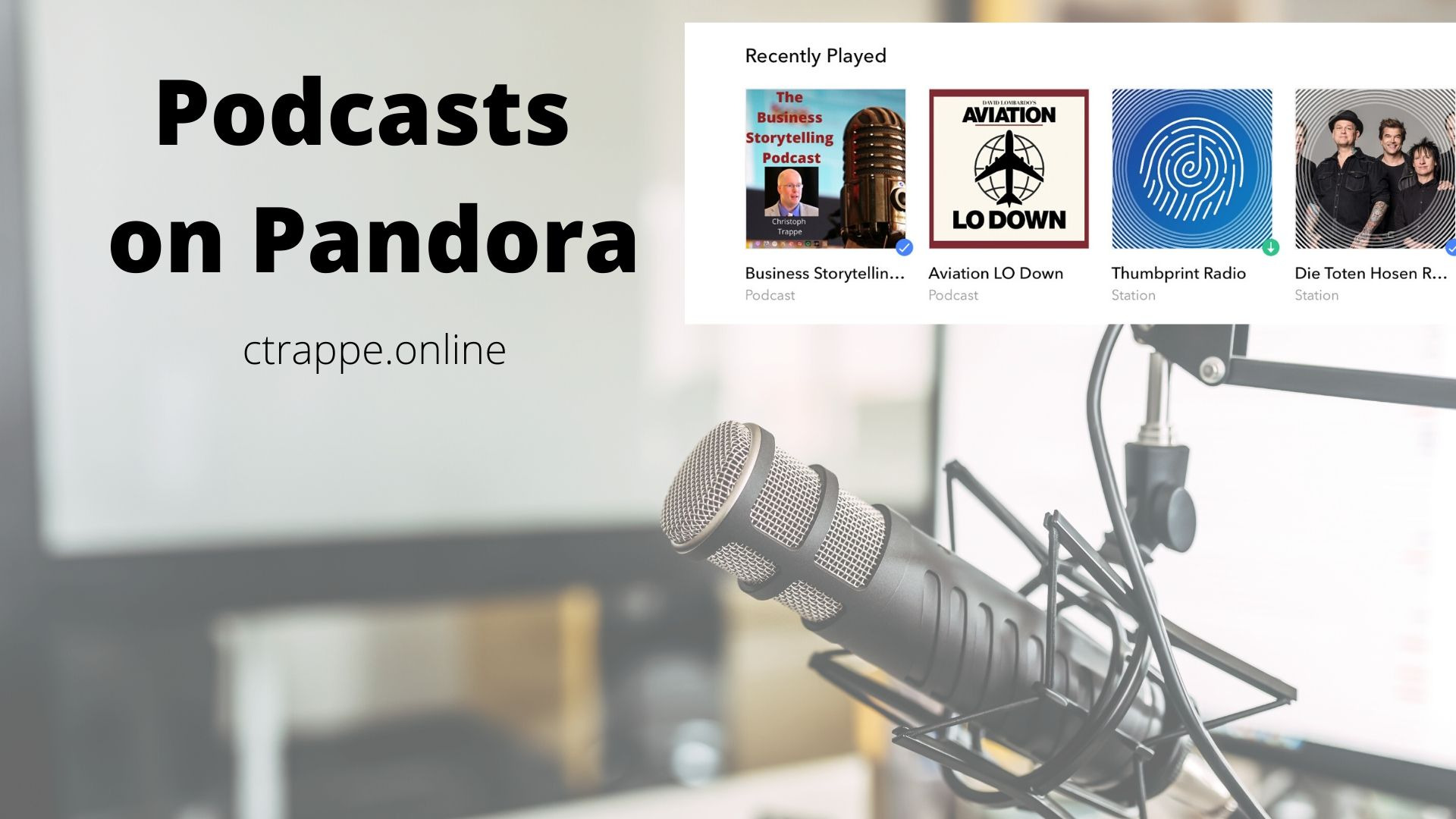 Podcasts on Pandora