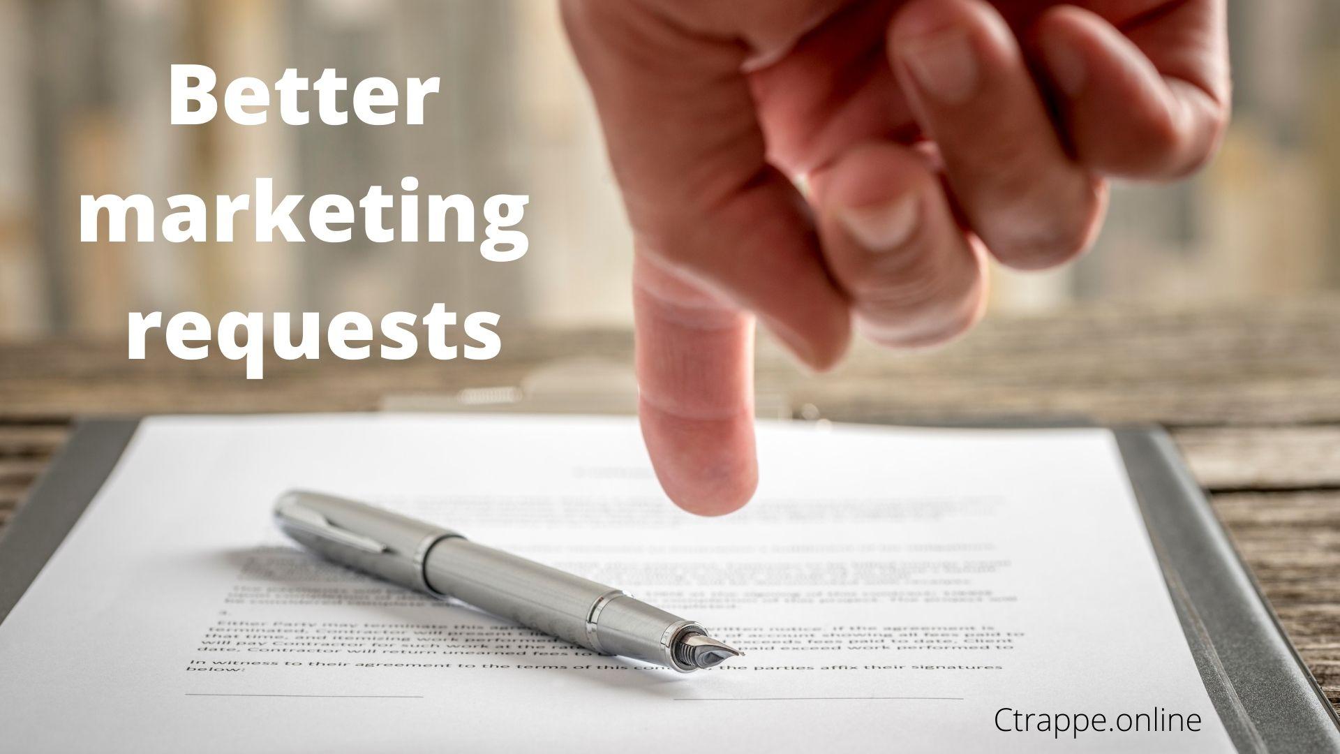 Marketing requests